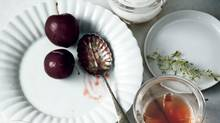 Ice wine gelée with plums and yogurt mousse (Michael Graydon for The Globe and Mail)
