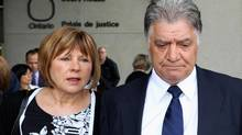 London Mayor Joe Fontana with his wife Vicky, walk from the London, Ont., courthouse after hearing the verdict in his fraud trial on June 13, 2014. (DAVE CHIDLEY/THE CANADIAN PRESS)