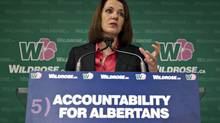 Wildrose leader Danielle Smith announces the fifth and final Wildrose pledge called the Alberta Accountability Act in Edmonton on April 9, 2012. (Jason Franson/ The Canadian Press/Jason Franson/ The Canadian Press)