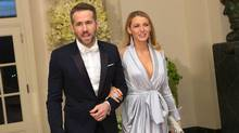 Actor Ryan Reynolds and Blake Lively arrive at a State Dinner in honor of Canadian Prime Minister Justin Trudeau at the White House in Washington on March 10, 2016. (CHRIS KLEPONIS/AFP/Getty Images)