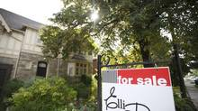 House for sale in a Toronto neighbourhood, August 27, 2013. (Gloria Nieto/The Globe and Mail)