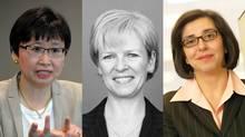 Janice Fukakusa of RBC (left), Colleen Johnston of TD (centre), Sonia Baxendale of CIBC