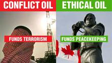 An ad campaign compares Canadian oil to that produced in other parts of the world. (Admin/EthicalOil.org)