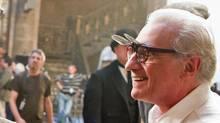 Martin Scorsese on the set of Hugo. (Jaap Buitendijk / Paramount Pictures)