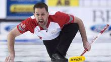 Team Newfoundland and Labrador skip Brad Gushue has won Olympic gold but not the Canadian championship. (Adrian Wyld/THE CANADIAN PRESS)