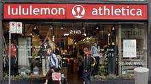 File photo of a Lululemon store in Vancouver. (RICHARD LAM/RICHARD LAM/The Canadian Press)