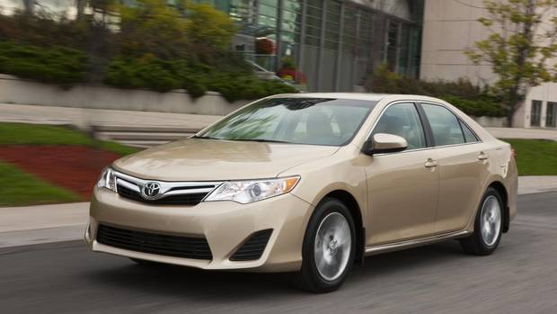 Toyota Camry - Toyota has been a dominant player with this sedan for almost as long as anyone can remember. The competition has caught up, though. Base price: $23,700. Base engine: 2.5-litre four-cylinder (178 hp). (Toyota)