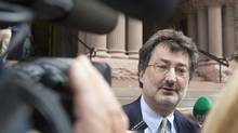 Lawyer Joe Groia speaks to the media in Toronto in 2007. (Frank Gunn/CP)