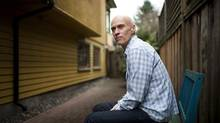 Musician and actor John Mann outside his Vancouver home this month. (Rafal Gerszak for The Globe and Mail)