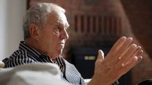 Former New Democratic Party leader Ed Broadbent, endorsing Brian Topp for party leadership, has called Mr. Topp's opponent Thomas Mulcair's strategy a 'central mistake.' (Blair Gable/Blair Gable For The Globe and Mail)