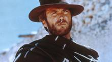 Young Clint Eastwood in Sergio Leone's A Fistful of Dollars.
