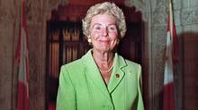 Betty Kennedy after being sworn in as a Senator in 2000. (JONATHAN HAYWARD/Canadian Press)