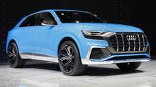 The Audi Q8 concept debuts at the North American International Auto Show in Detroit, Monday, Jan. 9, 2017. (Paul Sancya/AP)