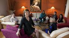 Verity CEO Mary Aitken, centre left, pictured with members of the business and social networking club in Toronto for women. (Matthew Sherwood for The Globe and mail/Matthew Sherwood for The Globe and mail)