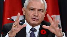 Pierre Daigle, Ombudsman for the Department of National Defence and the Canadian Forces, speaks during a news conference at the National Press Theatre in Ottawa on Tuesday, November 5, 2013. (Sean Kilpatrick/The Canadian Press)