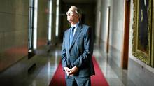 September 15, 2011: Justice Ian Binnie photograph at the Supreme Court in Ottawa. (Dave Chan/DAVE CHAN/The Globe and Mail)