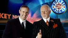 Ron MacLean (left) and Don Cherry on CBC's Hockey Night in Canada in a 2006 file photo. (CP/CP)