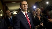 Former Premier Dalton McGuinty leaves a justice policy committee meeting after answering questions about deleted emails relating to two cancelled gas plants at Queen's Park in Toronto, Ont. Tuesday, June 25, 2013. (Kevin Van Paassen/The Globe and Mail)