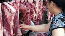 Chinese pork vendors