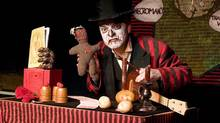 "Eric Woolfe in ""Doc Wuthergloom's Haunted Medicine Show"" (Dawn Weaver)"