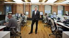 Brad Cressman, the head of content for the Canadian office of The Huffington Post, owned by AOL, is photographed in his Toronto office on February 29, 2012. (JENNIFER ROBERTS/JENNIFER ROBERTS FOR THE GLOBE AND MAIL)