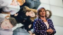 Mary Ann Turcke, President of Bell Media, speaks at the CTV Upfront 2015 presentation in Toronto on June 4, 2015. (JENNIFER ROBERTS For The Globe and Mail)