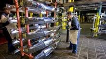 Canadian and Mexican auto parts makers collectively employ nearly one million workers. NAFTA rules currently stipulate that a car can be shipped without duties into Canada, the United States or Mexico if 62.5 per cent of it originates in these countries. (Norm Betts/Bloomberg)