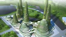 The green future of architecture envisioned by MVRDV for the Gwanggyo Power Center project in South Korea  (MVRDV)
