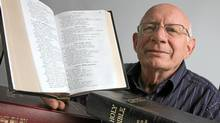Hart Wiens is in charge of translation projects at the Canadian Bible Society where they have, with the use of their own software, recently completed translating an inuktitut version. (Glenn Lowson/The Globe and Mail)
