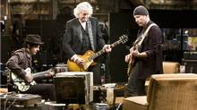"""The movie, """"It Might Get Loud,"""" features (L) Jack White, Jimmy Page and The Edge."""
