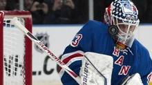 New York Rangers goalie Martin Biron is expected to get the start in Sunday's home game against the Winnipeg Jets. REUTERS/Ray Stubblebine (Ray Stubblebine/Reuters)