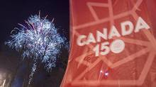 Fireworks light the sky during a Canada 150 event to celebrate the 150th anniversary of Confederation in Charlottetown, P.E.I. on Saturday, Dec. 31, 2016. (Andrew Vaughan/THE CANADIAN PRESS)