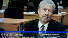 Gilles Surprenant, a retired engineer with the City of Montreal, testifies before the Charbonneau Commission. (Paul Chiasson/The Canadian Press)