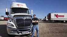 David O'Neill began driving big rigs for Kriska Transportation more than five years ago. (Matthew Sherwood For The Globe and Mail)