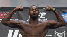 UFC fighter Jon Jones poses during his weigh in in Toronto on Friday, December 9, 2011. (Pawel Dwulit/THE CANADIAN PRESS)