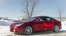 The 2014 Buick Regal GS AWD really surprised at Circuit ICAR, a closed course covered in ice in Quebec. (General Motors)