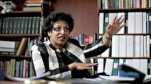 University of Alberta President Indira Samarasekera is an advocate for boys education. ( (Jason Franson/Jason Franson/The Globe and Mail)