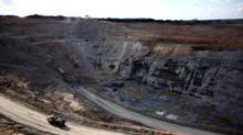 A truck winds its way out of the Canadian First Quantum Minerals Ltd. Frontier mine in Fungurume, in southern Democratic Republic of Congo, on May 25, 2010. The base metal producer was among the hardest-hit Canadian-listed companies in the S&P/TSX composite index on Monday. (KATRINA MANSON/Reuters)