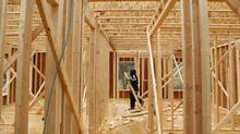 New building permits surged 5.1 per cent to a seasonally adjusted annual rate of 717,000 units last month, the highest since October, 2008, the U.S. Commerce Department said on Tuesday. (Kevin Lamarque/Reuters/Kevin Lamarque/Reuters)