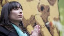 Jodie Emery, at a Vancouver cannabis rally in April 2011, would have to run against the NDP's Libby Davies, an MP she respects. (JOHN LEHMANN/The Globe and Mail)