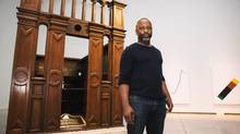 Artist Theaster Gates poses for a photo during a tour of his latest exhibition, How to Build a House at the Art Gallery of Ontario in Toronto (JeNNIFER ROBERTS FOR The Globe and Mail)