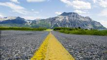 The main highway that leads into Waterton Lakes National Park in Alberta, Canada on Sunday, June 24, 2007. (Chris Bolin For The Globe and Mail)