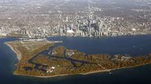 An aerial view shows the Toronto Islands and Billy Bishop Toronto City Airport in the foreground of Toronto. A new compressed-air energy storage system is being launched off Toronto's lakefront on Wednesday. (Chris Wattie/REUTERS)