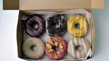 A box of doughnuts at Paulette's in Toronto. (J.P. MOCZULSKI for The Globe and Mail)