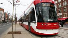 According to the TTC, a new agreement with Bombardier will mean that the Thunder Bay company will produce two streetcars per month, starting in March. (Emma Ewing-Nagy for The Globe and Mail)
