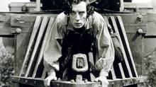 A scene from The General. Critics thought Buster Keaton's battlefield jokes were in poor taste.