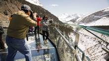 Former Parks Canada staff are beginning to speak out aboaut the desecration of some of Canada's national treasures. One such example is the SkyWalk over the Columbia Icefields at Jasper. (Jeff McIntosh/The Canadian Press)