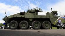 A General Dynamics LAV is seen May 25, 2016 at the CNASEC (Canada's Global Defence and Security Trade Show) in Ottawa. DAVE CHAN FOR THE GLOBE AND MAIL (Dave Chan For The Globe and Mail)