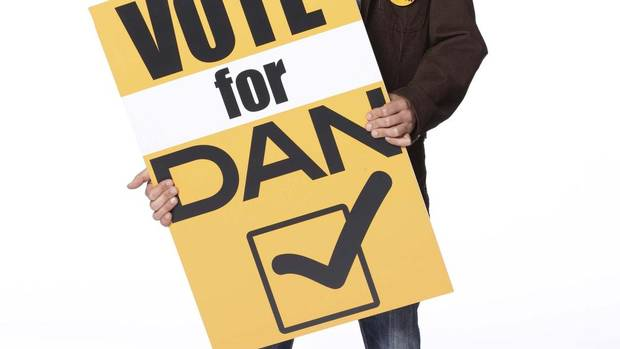 Fred Ewanuick as Dan in Dan For Mayor.