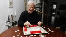 Canadian actor Gordon Pinsent playing scrabble at his home in Toronto. (Fernando Morales/The Globe and Mail/Fernando Morales/The Globe and Mail)